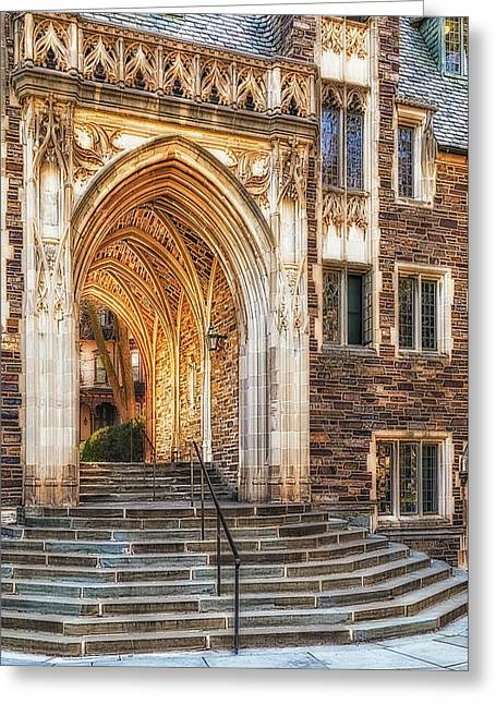 Greeting Card featuring the photograph Princeton University Lockhart Hall Dorms by Susan Candelario
