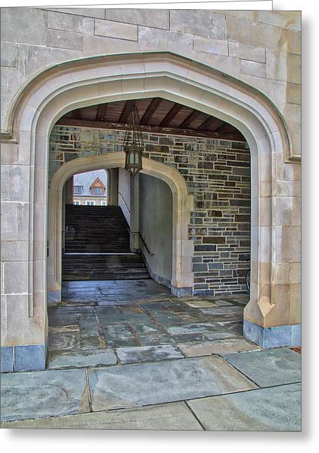 Princeton University Whitman College Arches Greeting Card by Susan Candelario