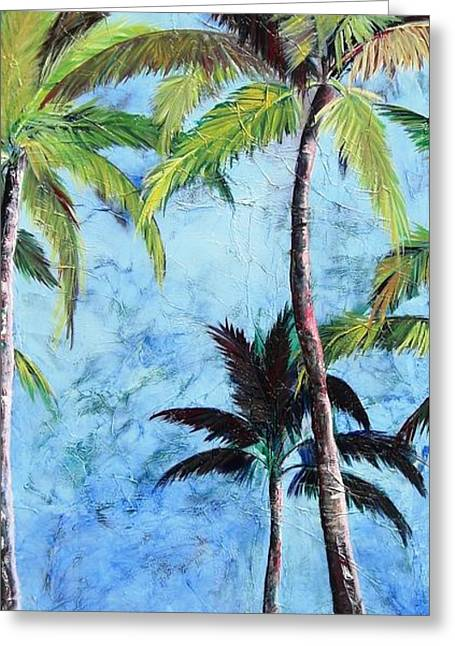 Princeville Palms  Greeting Card
