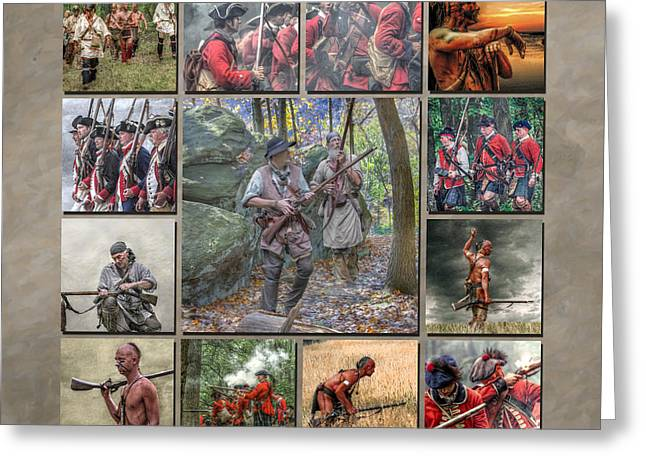 Print Collection French And Indian War Greeting Card by Randy Steele