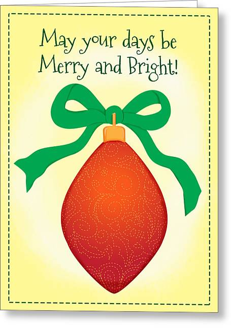 Ornament Greeting Card by Monette Pangan