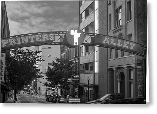 Greeting Card featuring the photograph Printers Alley by Robert Hebert