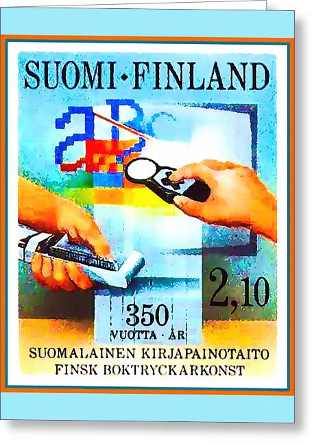 Printing In Finland Greeting Card by Lanjee Chee