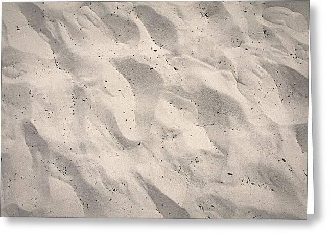 Prints In Sand - Carmel Ca Greeting Card