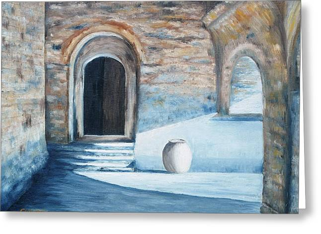 Priory De Serrabonne France Greeting Card by Cynthia Young