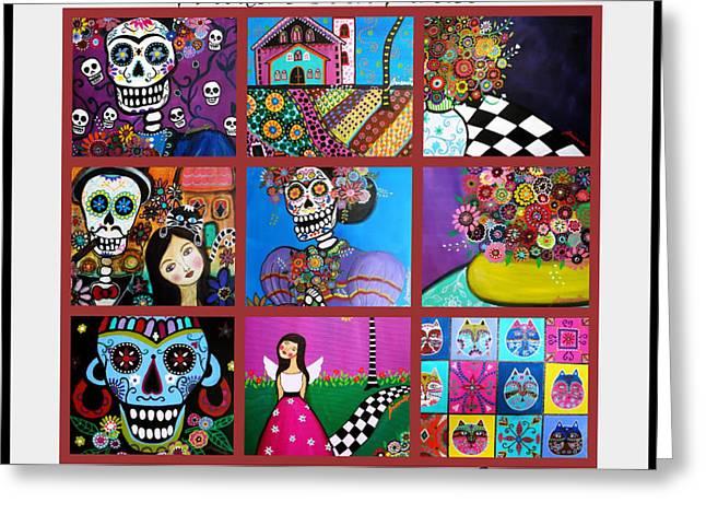 Prisarts Paintings Greeting Card by Pristine Cartera Turkus