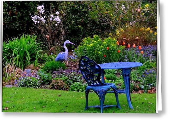 Priscillas English Garden Greeting Card