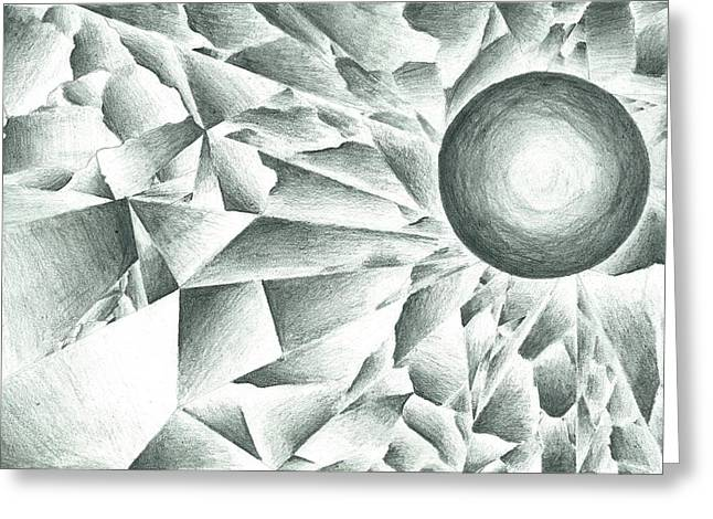 Prismatic Eclipse Greeting Card