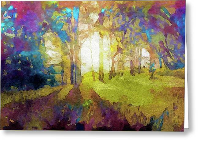 Prismatic Forest Greeting Card