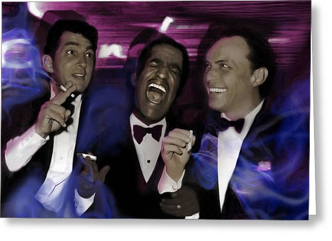 Prismatic Rat Pack Greeting Card by Christine Mayfield
