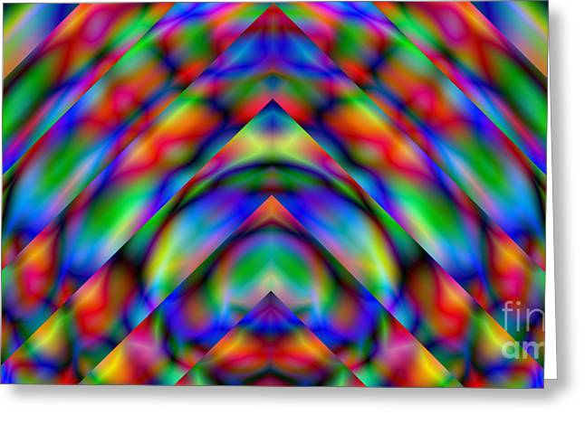 Prisms 339 Abstract Greeting Card by Rolf Bertram