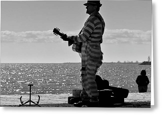 Prison Break Blues.  Busking On The Greeting Card