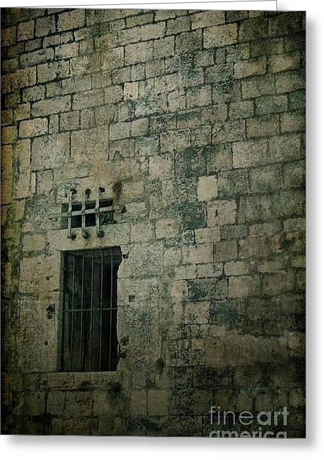 Prison Greeting Card by Mythja Photography
