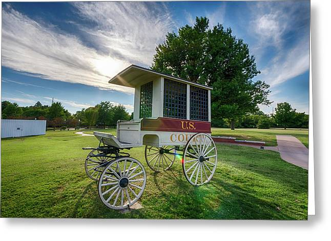 Greeting Card featuring the photograph Prison Wagon by James Barber