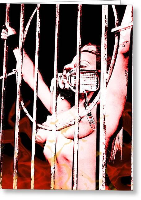 Prisoner Greeting Card by Tbone Oliver