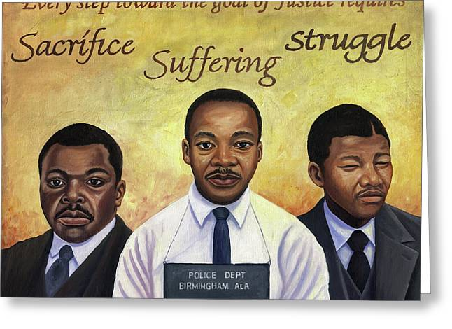 Prisoners Of Freedom Greeting Card by Kavion Robinson