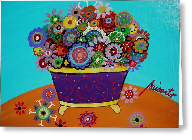 Pristine Flowers Greeting Card