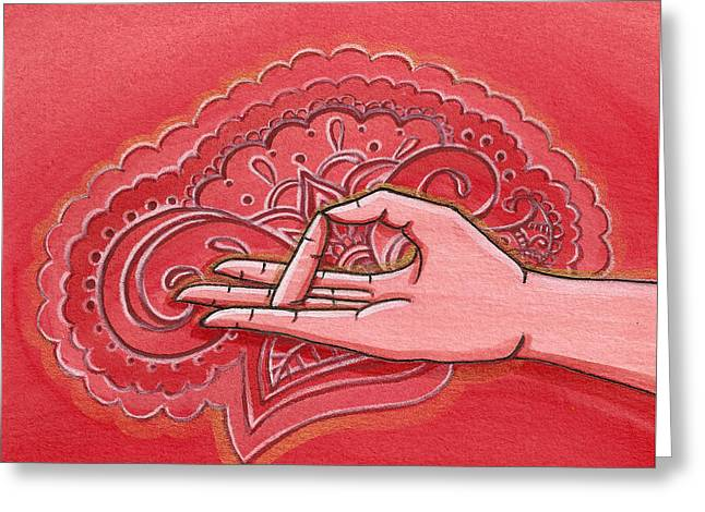 Prithvi Mudra Greeting Card by Sabina Espinet