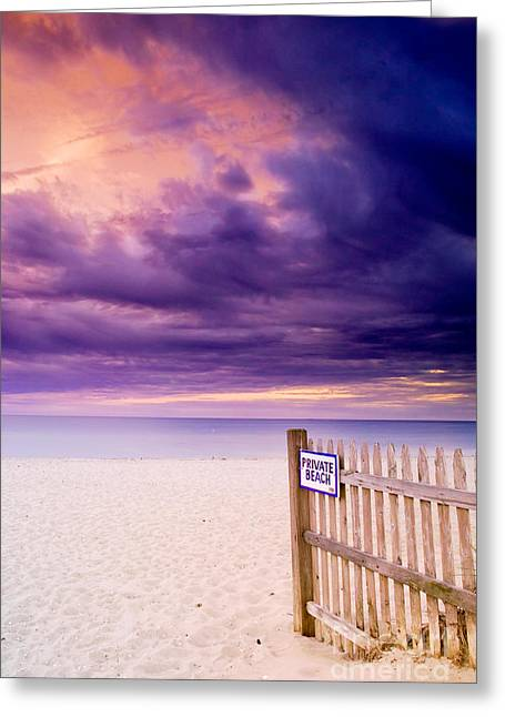 Private Beach Cape Cod Greeting Card by Matt Suess