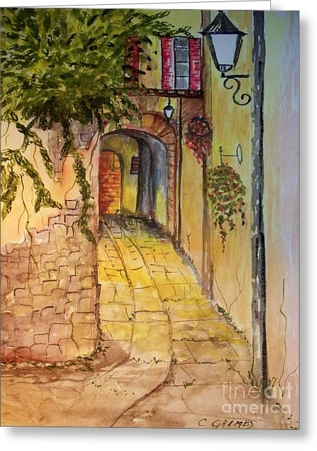 Private Entrance Greeting Card by Carol Grimes