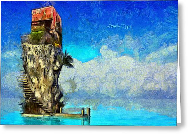 Private Island - Da Greeting Card by Leonardo Digenio