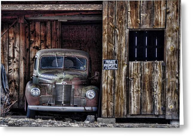 Private Parking Greeting Card by Ken Smith