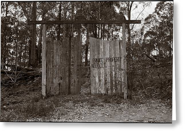 Private Property Greeting Card by Werner Hammerstingl
