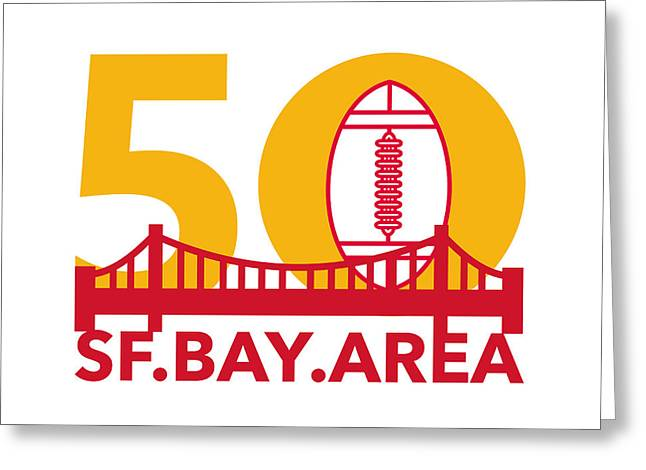 Pro Football Championship 50 Sf Bay Area Greeting Card