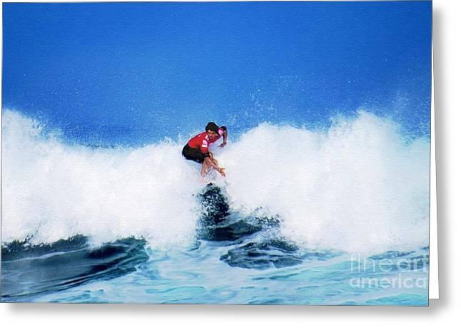 Pro Surfer Alex Ribeiro Greeting Card