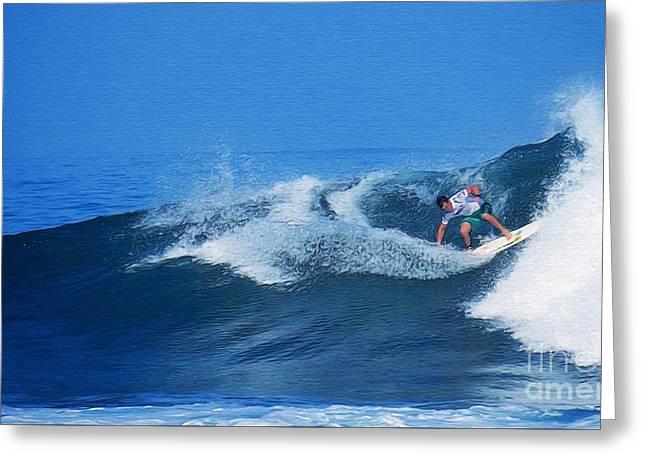 Pro Surfer Gabe King - 2 Greeting Card