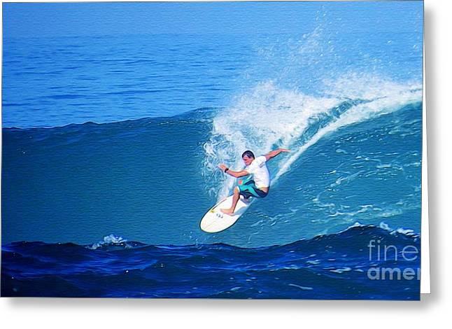 Pro Surfer Gabe King - 5 Greeting Card