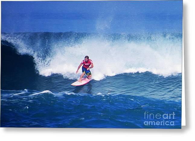 Pro Surfer Glenn Hall Greeting Card