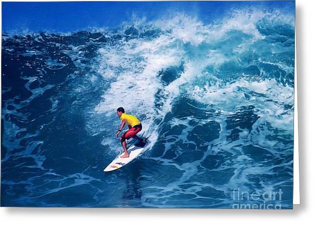 Pro Surfer Ian Walsh Greeting Card