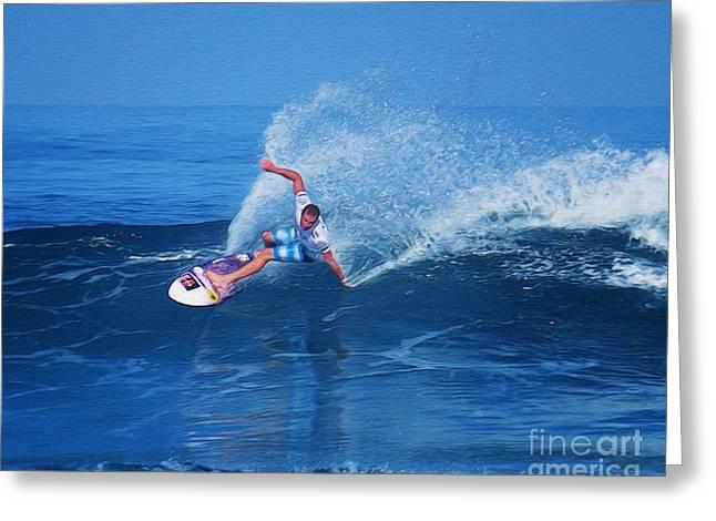 Pro Surfer Jamie O Brien #1 Greeting Card