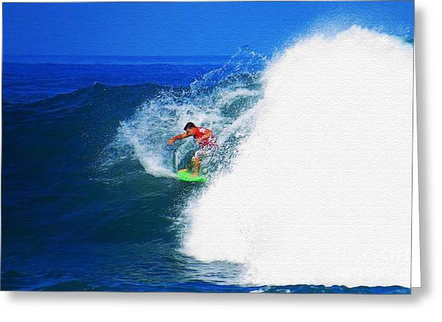 Pro Surfer Keanu Asing-4 Greeting Card