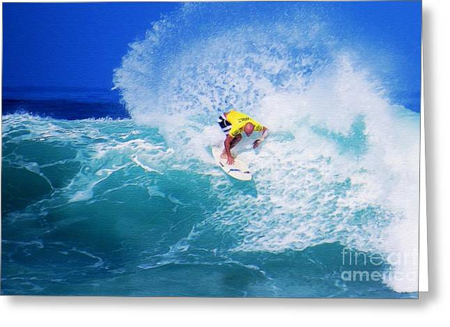 Pro Surfer-nathan Hedge-3 Greeting Card