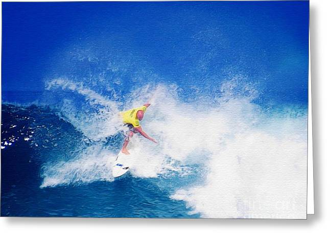 Pro Surfer Nathan Hedge-6 Greeting Card