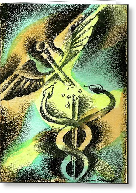 Problems Of Healthcare Greeting Card by Leon Zernitsky