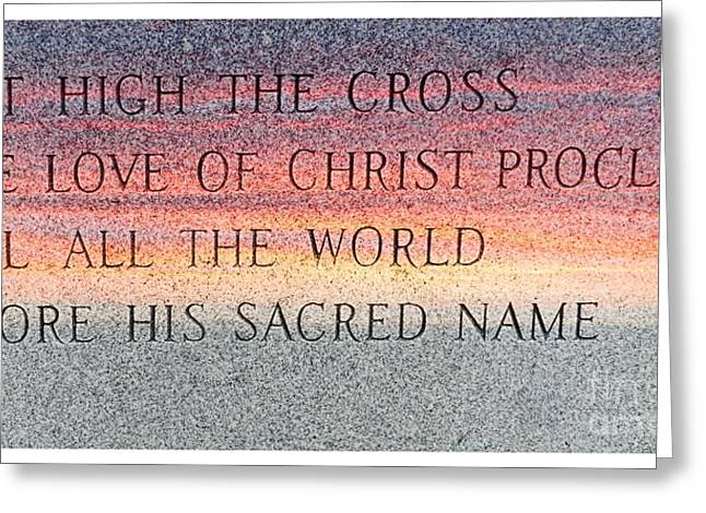 Proclaim His Name-c Greeting Card by Kathleen Struckle