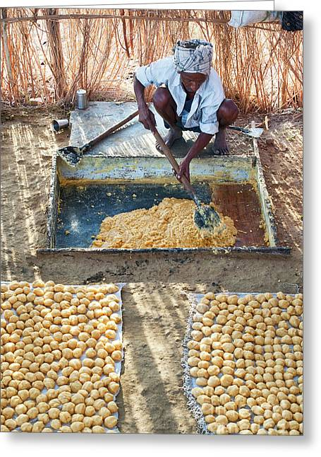 Producing Jaggery Greeting Card by Tim Gainey