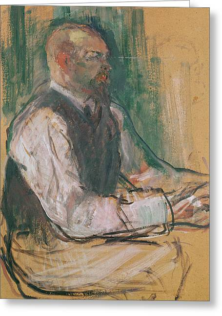 Professor Robert Wurz  Greeting Card by Henri De Toulouse-Lautrec