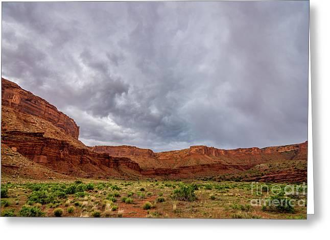 Professor Valley Storm - Moab - Utah Greeting Card