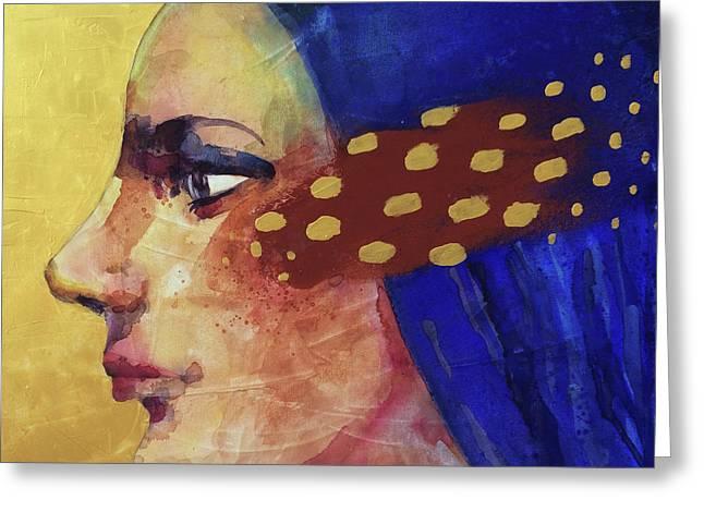 Profilo Di Donna Greeting Card by Alessandro Andreuccetti