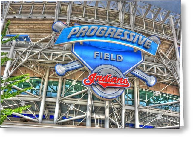 Progressive Field Greeting Card