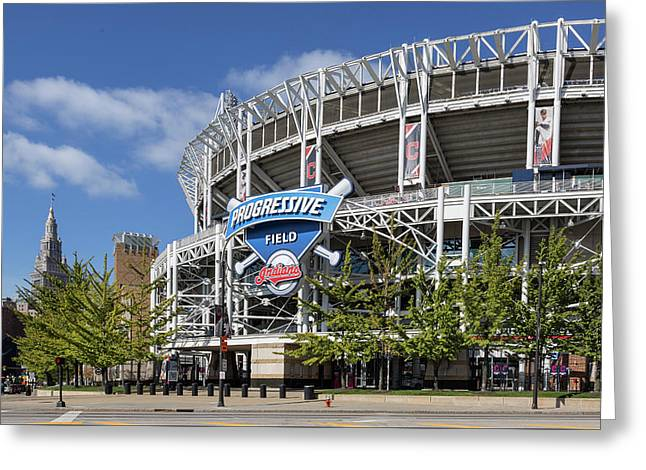 Progressive Field In Cleveland Ohio Greeting Card by Dale Kincaid