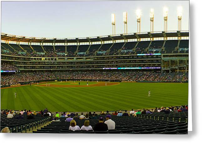 Progressive Field Greeting Card by Tim  Telep