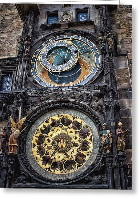 Progue Astronomical Clock Greeting Card