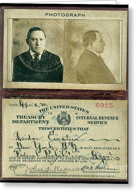Prohibition Agent Id Greeting Card