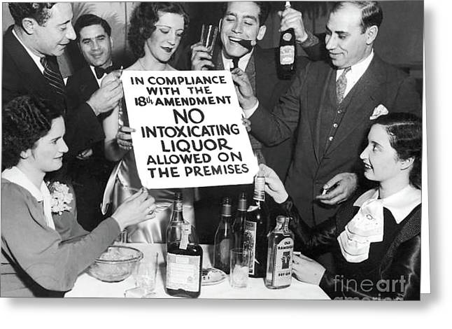 Prohibition Ends Let's Party Greeting Card by Jon Neidert