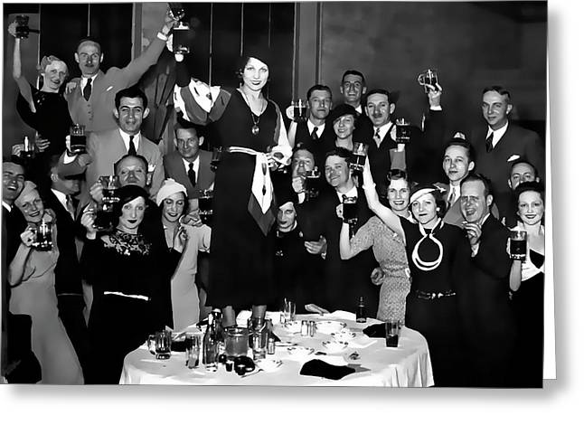 Prohibition Ends Party 1933 Greeting Card by Daniel Hagerman